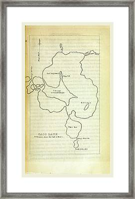 Cass Lake, Narrative Of An Expedition Through The Upper Framed Print