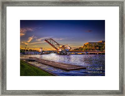 Cass Street Bridge Framed Print by Marvin Spates