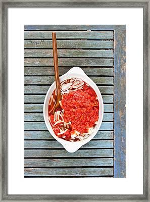 Casserole Framed Print by Tom Gowanlock