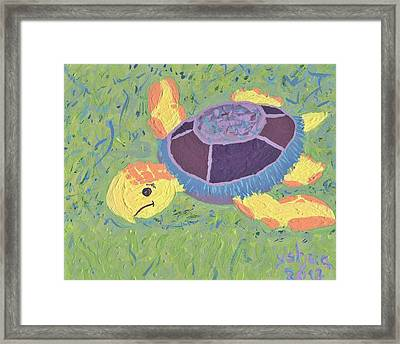 Framed Print featuring the painting Cassidy by Yshua The Painter