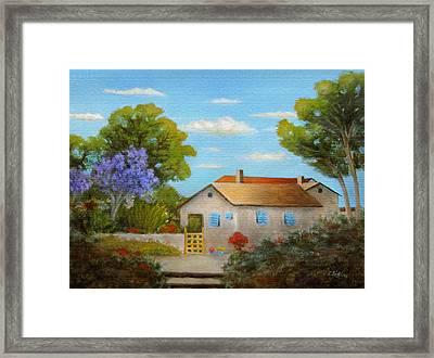 Cassie's Cottage Framed Print by Gordon Beck