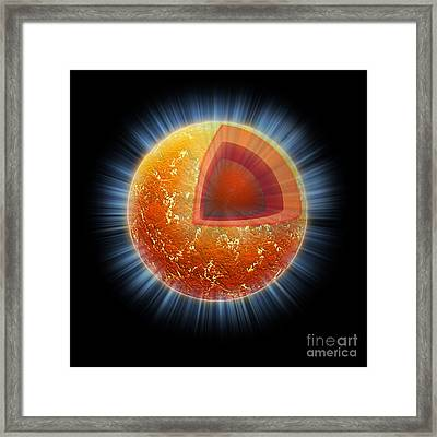 Cassiopeia A Neutron Star Core Framed Print by Science Source