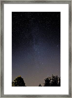 Framed Print featuring the photograph Cassiopeia And Andromeda Galaxy 01 by Greg Reed