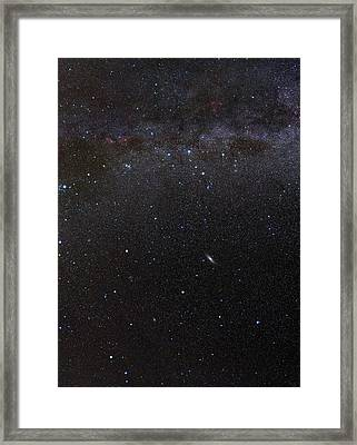 Cassiopeia Constellation And Andromeda Framed Print by Eckhard Slawik