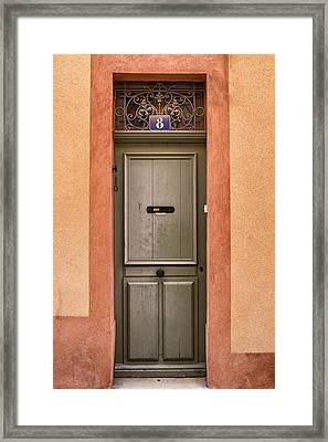 Cassis Door Number 8 Framed Print by Georgia Fowler