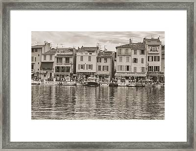 Cassis - French Town - Toned Framed Print