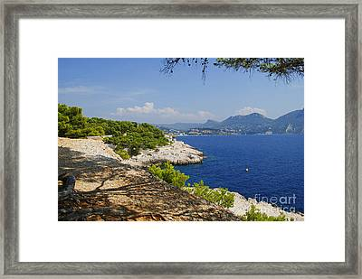 Amazing Coast Of Cassis On French Riviera Framed Print