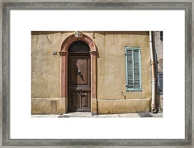 Cassis Summer House  Framed Print