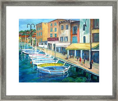 Cassis Waterfront Stroll Framed Print