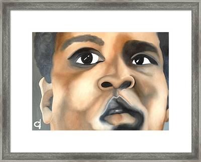 Cassius Clay Framed Print by Chelsea VanHook