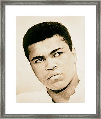 Cassius Clay Later Muhammad Ali 1960s Framed Print