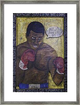 Cassius Clay - Muhammad Ali Framed Print by Eric Cunningham