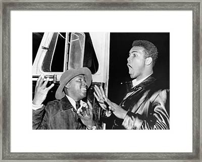 Cassius Clay Predicts Eight Framed Print by Underwood Archives