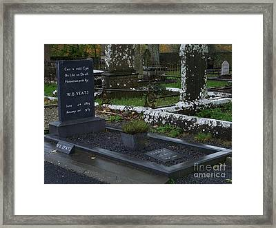 Framed Print featuring the photograph Cast A Cold Eye by Marilyn Zalatan