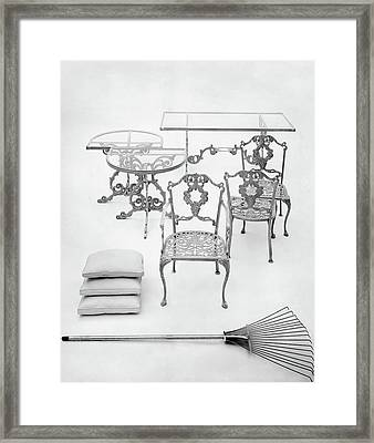 Cast Aluminum Furniture By Molla Framed Print