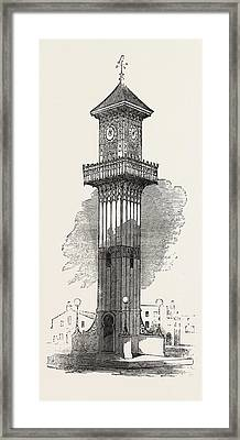 Cast Iron Clock-tower For Geelong 1854 Framed Print by English School