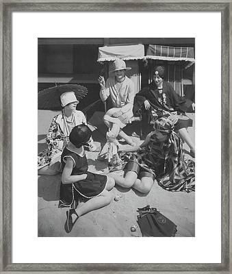 Cast Of Florida Girl On A Beach Framed Print