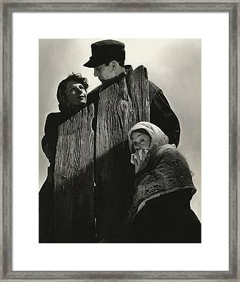 Cast Portrait For Edith Wharton's Play Ethan Framed Print