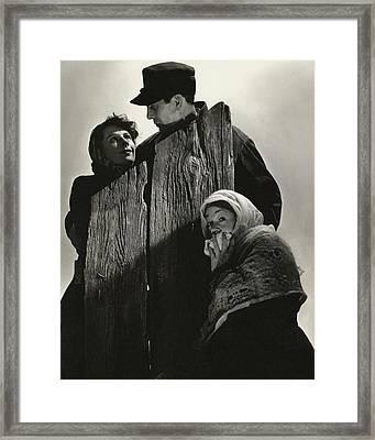 Cast Portrait For Edith Wharton's Play Ethan Framed Print by Edward Steichen