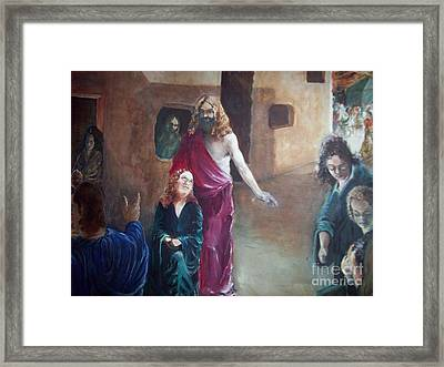 Cast The First Stone Framed Print