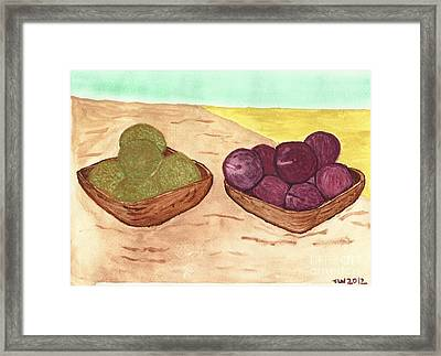 Castaway Fruit Framed Print by Tracey Williams