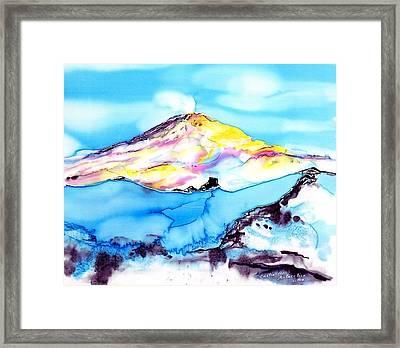 Caste Rock Antarctica Framed Print by Carolyn Doe