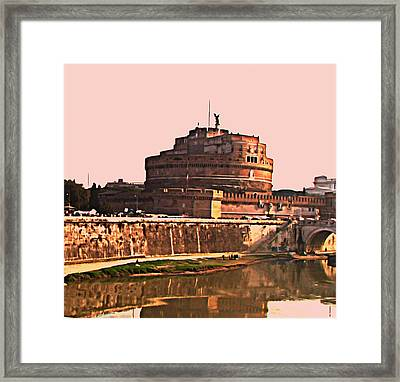 Framed Print featuring the photograph Castel Sant 'angelo by Brian Reaves