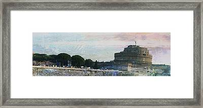 Framed Print featuring the painting Castel Sant'angelo     by Brian Reaves