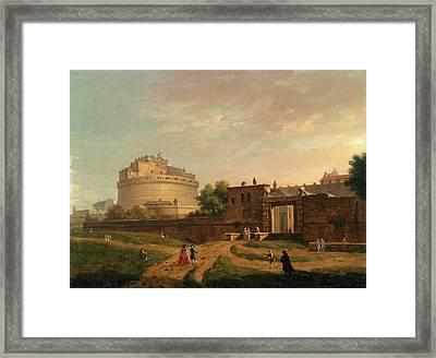 Castel Santangelo, Rome Signed And Dated Framed Print by Litz Collection
