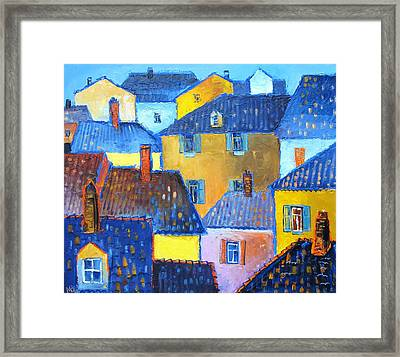 Castel Tessino Framed Print