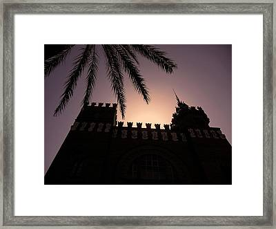 Castell Dels Tres Dragons ... Framed Print by Juergen Weiss