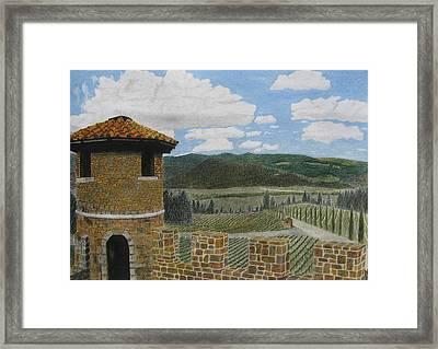 Castello Di Amorosa Framed Print by Steve Keller
