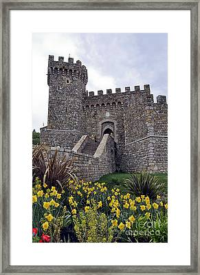 Castello Di Amorosa Winery Framed Print by Gina Savage