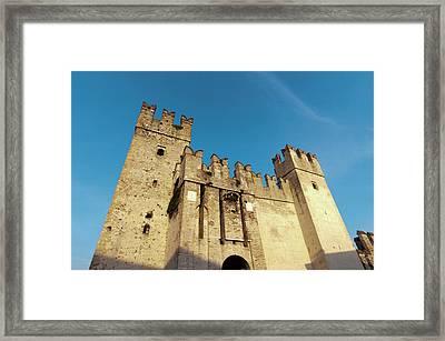 Castello Scaligero, Sirmione, Lago Di Framed Print