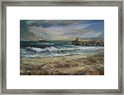 Castellon Deserted Beach Framed Print by Stefano Popovski