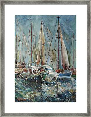 Castellon The Port Framed Print by Stefano Popovski
