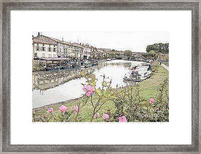 Castelnaudary At The Canal Du Midi Framed Print by Heiko Koehrer-Wagner
