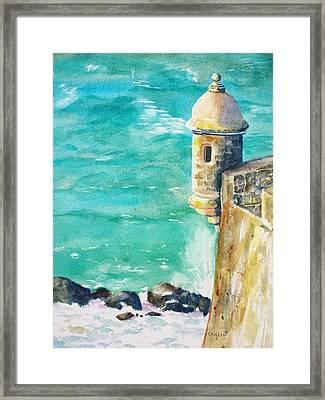Castillo De San Cristobal Ocean Sentry  Framed Print