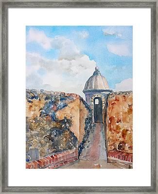 Castillo De San Cristobal Sentry Door Framed Print