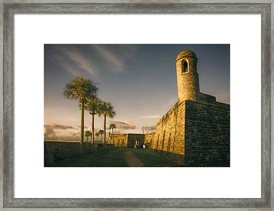 Castillo De San Marcos Dawn Framed Print by Joan Carroll