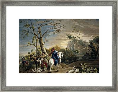 Castillo, Jos� Del 1737-1793. Bird Framed Print