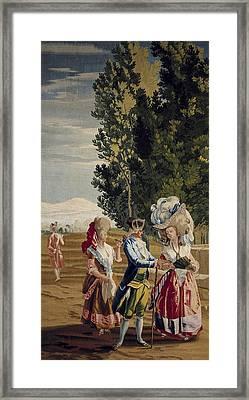 Castillo, Jos� Del 1737-1793. The Lady Framed Print