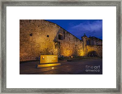 Framed Print featuring the photograph Castillo San Cristobal In Old San Juan Puerto Rico by Bryan Mullennix