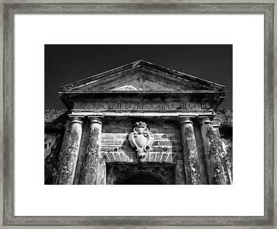 Castillo San Felipe Del Morro 001 Bw Framed Print by Lance Vaughn
