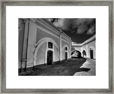 Castillo San Felipe Del Morro 003 Bw Framed Print by Lance Vaughn