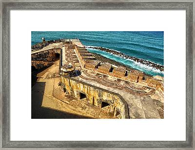 Castillo San Felipe Del Morro 2 Framed Print by Mitch Cat