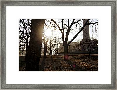 Casting A Shadow Framed Print by Eugene Bergeron