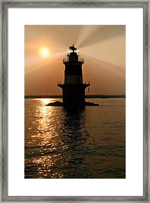 Peck's Ledge Lighthouse Framed Print by Diana Angstadt