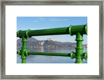 Castle And Banister Framed Print by Mats Silvan
