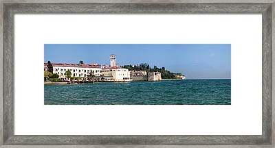 Castle At The Lakeside, Scaliger Framed Print